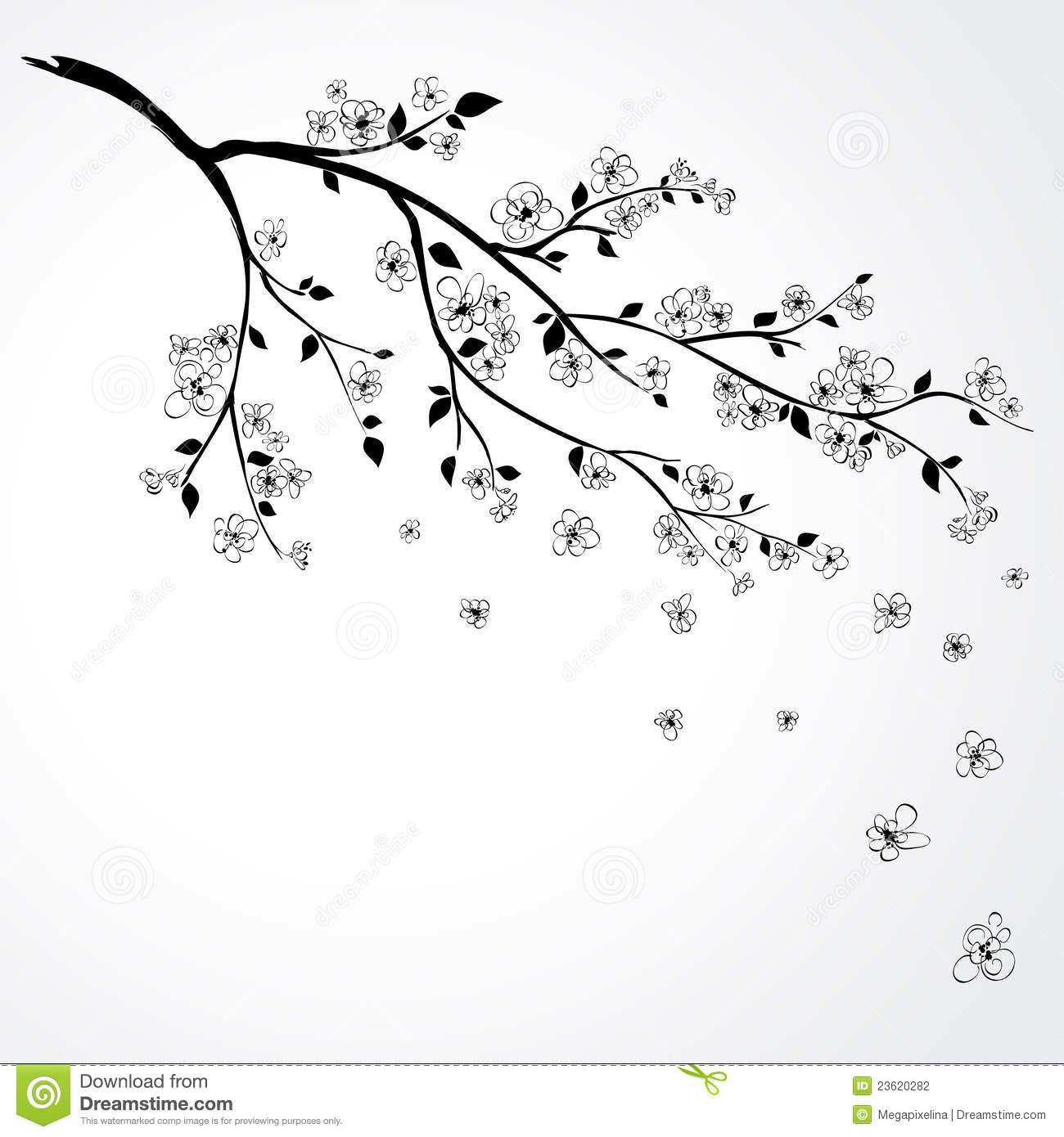 cherry blossom flower branch drawing cherry tree blossom nursery pinterest cherry tree