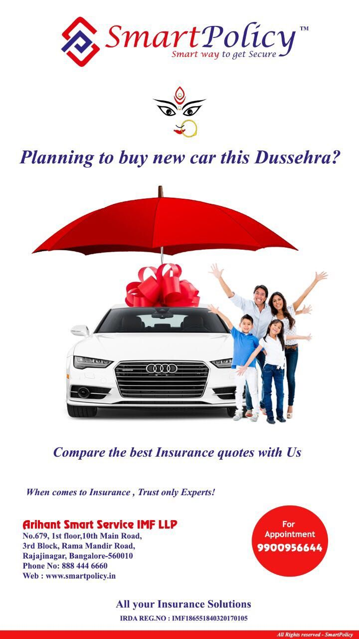 Planning To Buy New Car This Dussehra Get A Quote For Insurance