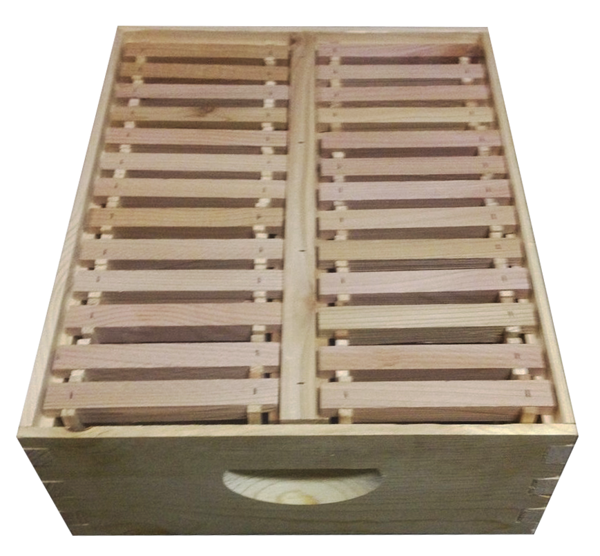 This Is A Medium Comb Box 16 1 4 X 20 X 6 5 8 With Frames Center Support And Thin Surplus Starter Strips Can Be Used As Bee Boxes Bee Hive Bee Keeping