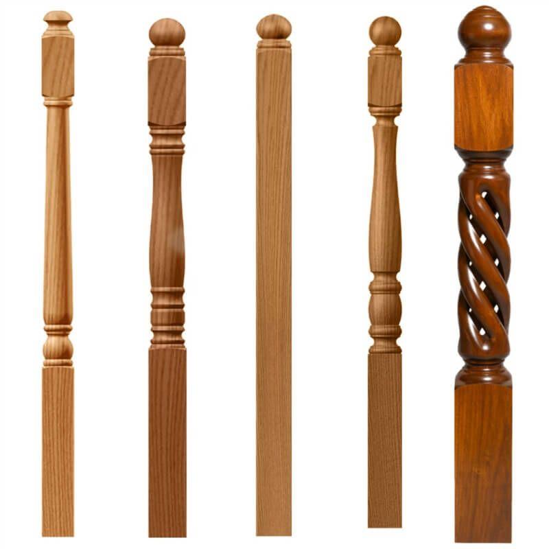 Best Wood Newel Posts Diy Stairs Newel Posts Handrail Design 400 x 300
