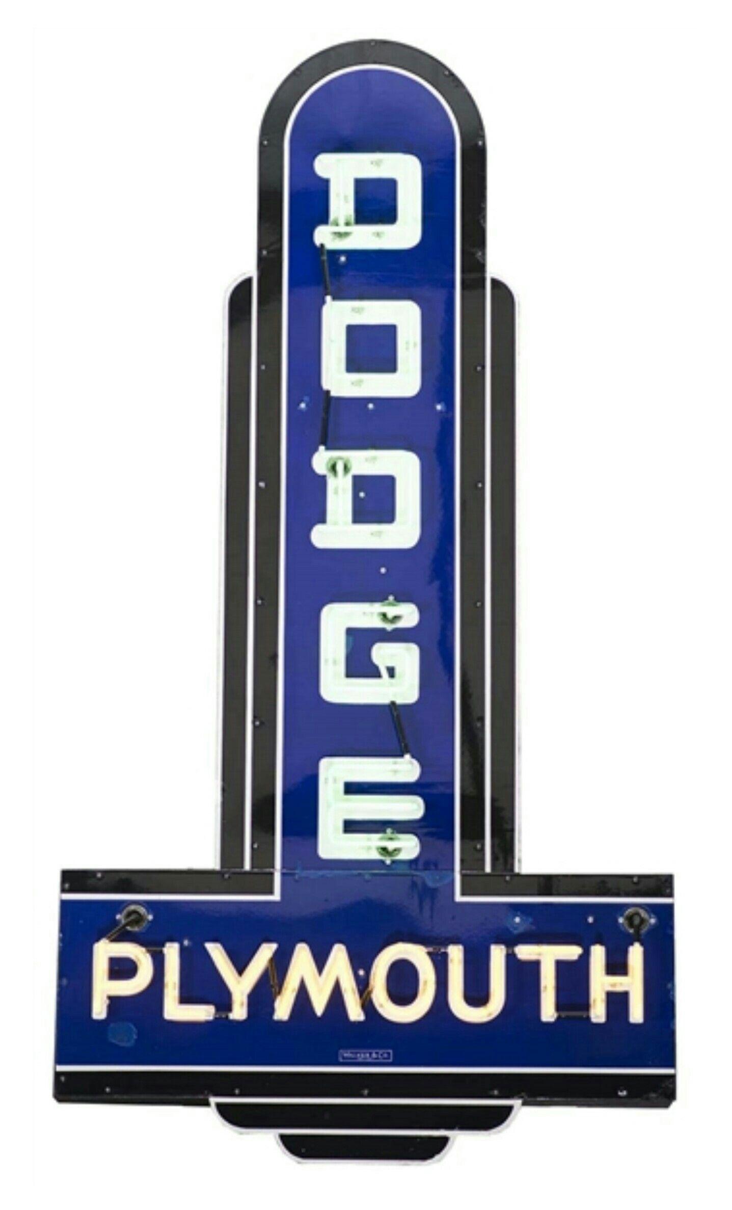 rare original dodge plymouth neon sign walker sign co