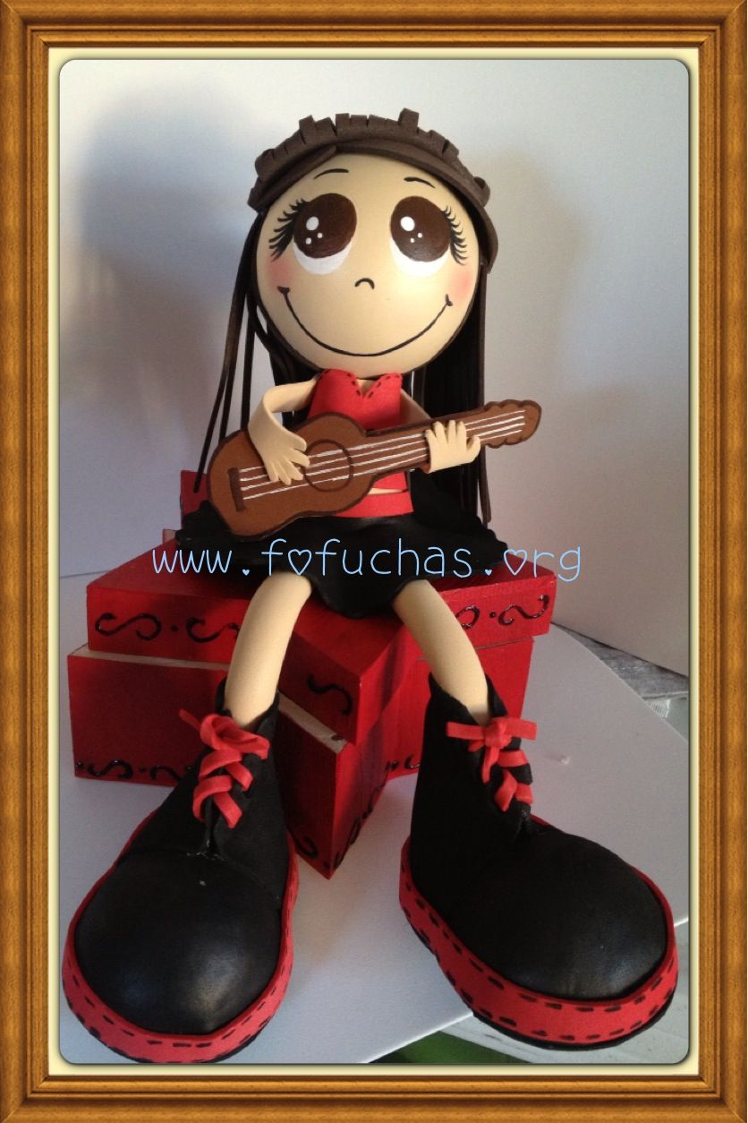 Fofucha sitting on a star trinket box. Doll is handmade using foam sheets. She is super lovely and would bring a smile to anyones face. follow me on fb www.facebook.com/fofuchashandmadedolls or visit my site www.fofuchas.org order yours custom made.