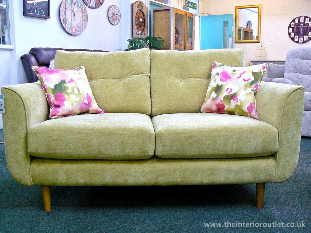 £799  NEW: Euston Lime Fabric 2 X Two Seater Sofa Set   Free