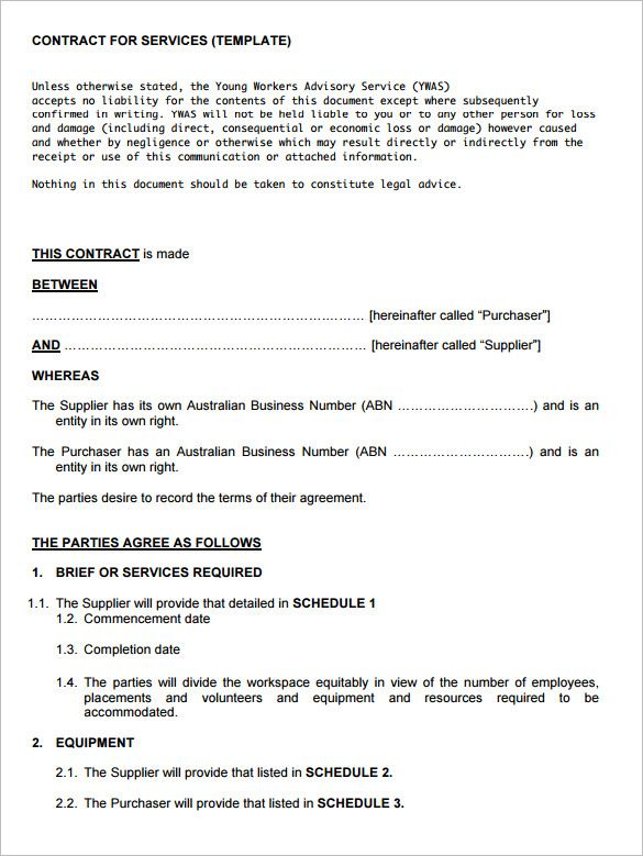 It Service Contract Template Service Contract Template  Template  Pinterest  Template .