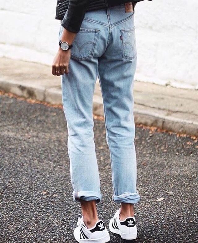 Levis jeans and Adidas Original