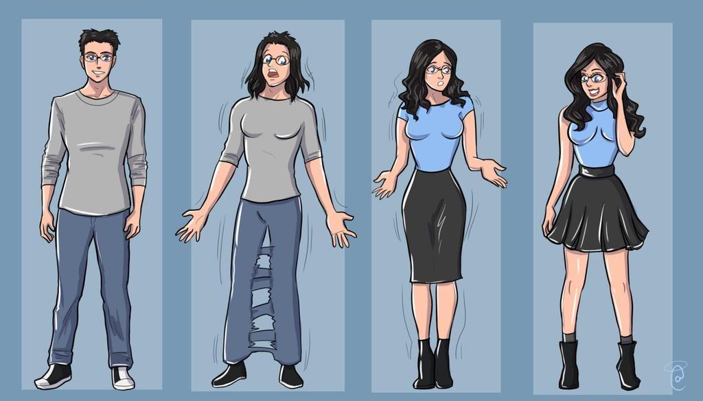 Tg Tf Blue Dress By Kittymellow On Deviantart Tg Tf Comic Art Girls Tg Transformation