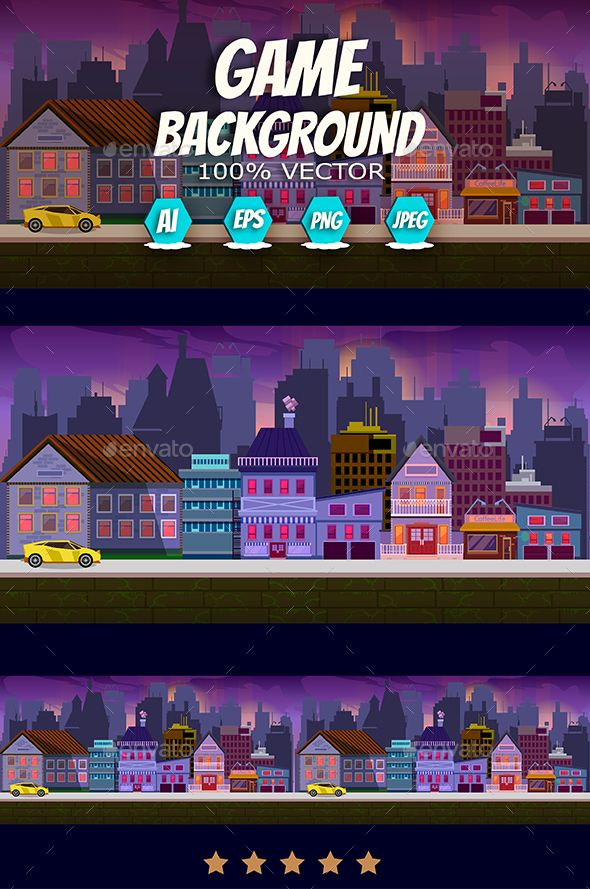 Modern City Game Background Backgrounds Game Assets
