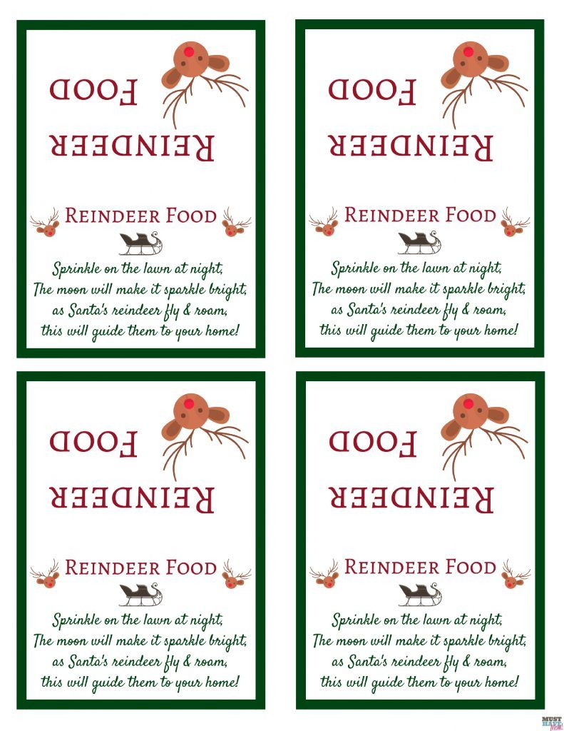 Grinch Dust Printable Label