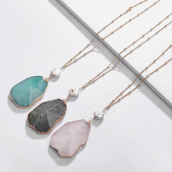 Damaris Natural Stone Long Necklace in 2019 | all bohemian / boho