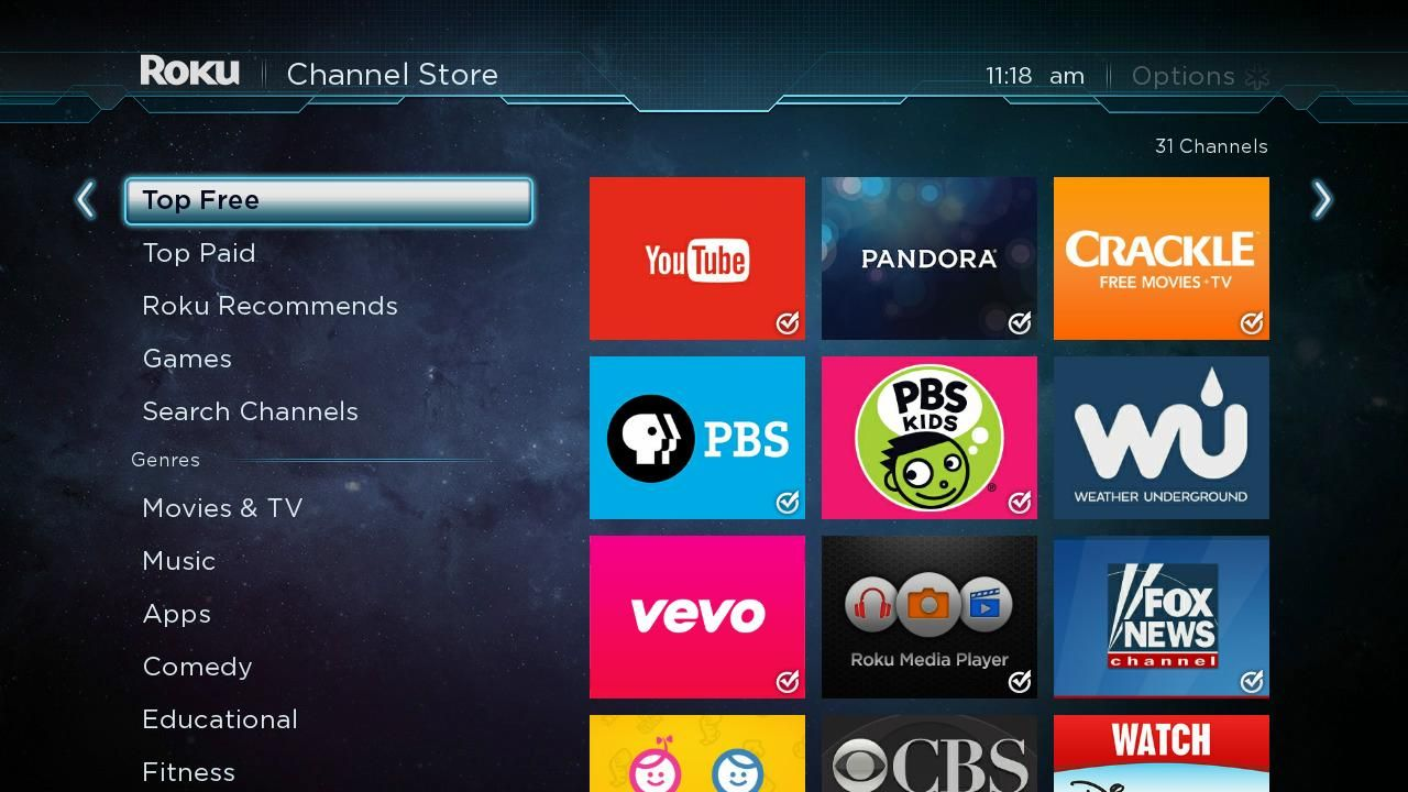 Free Channels In The Roku Channel Store Roku Roku Channels Roku Streaming Tv Channels