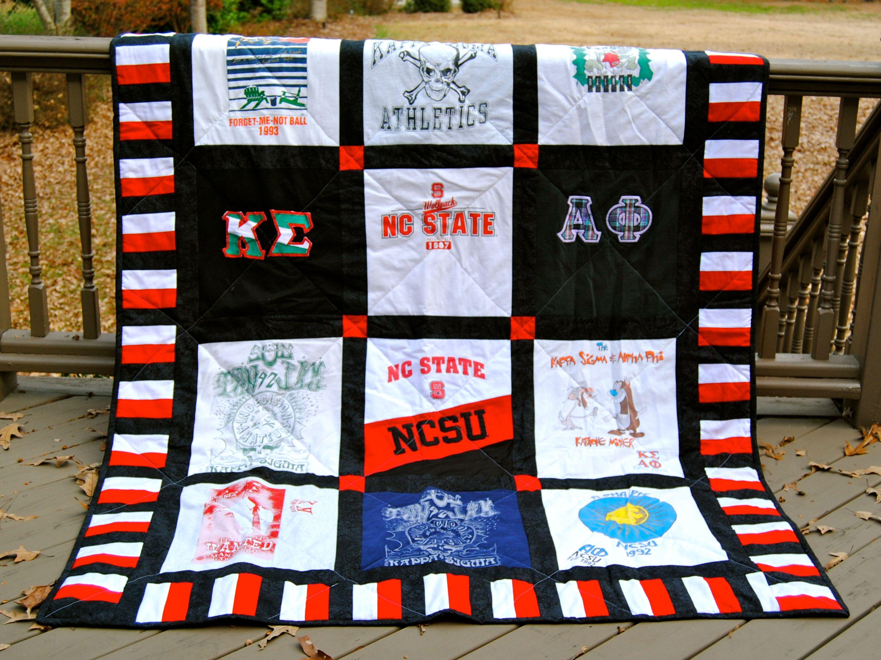 T-shirt quilt design instructions - Nc State Quilt T Shirt Quilt