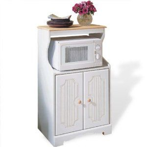 White Cook Center Microwave Stand And Kitchen Cart Http Www