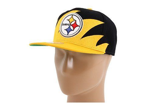45d6c461 Pittsburgh Steelers Mitchell & Ness Shark Tooth Vintage Snap Back ...