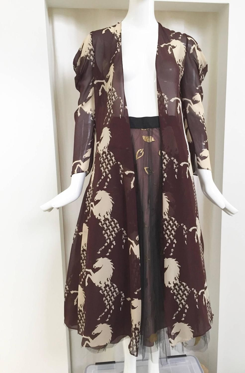 e1a9efaae0 2001 CHLOE horse print silk wrap dress in 2019 | Fashion & Style ...