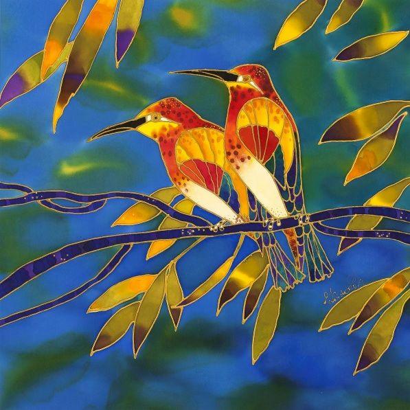 Yelena Sidorova-Blue Birds