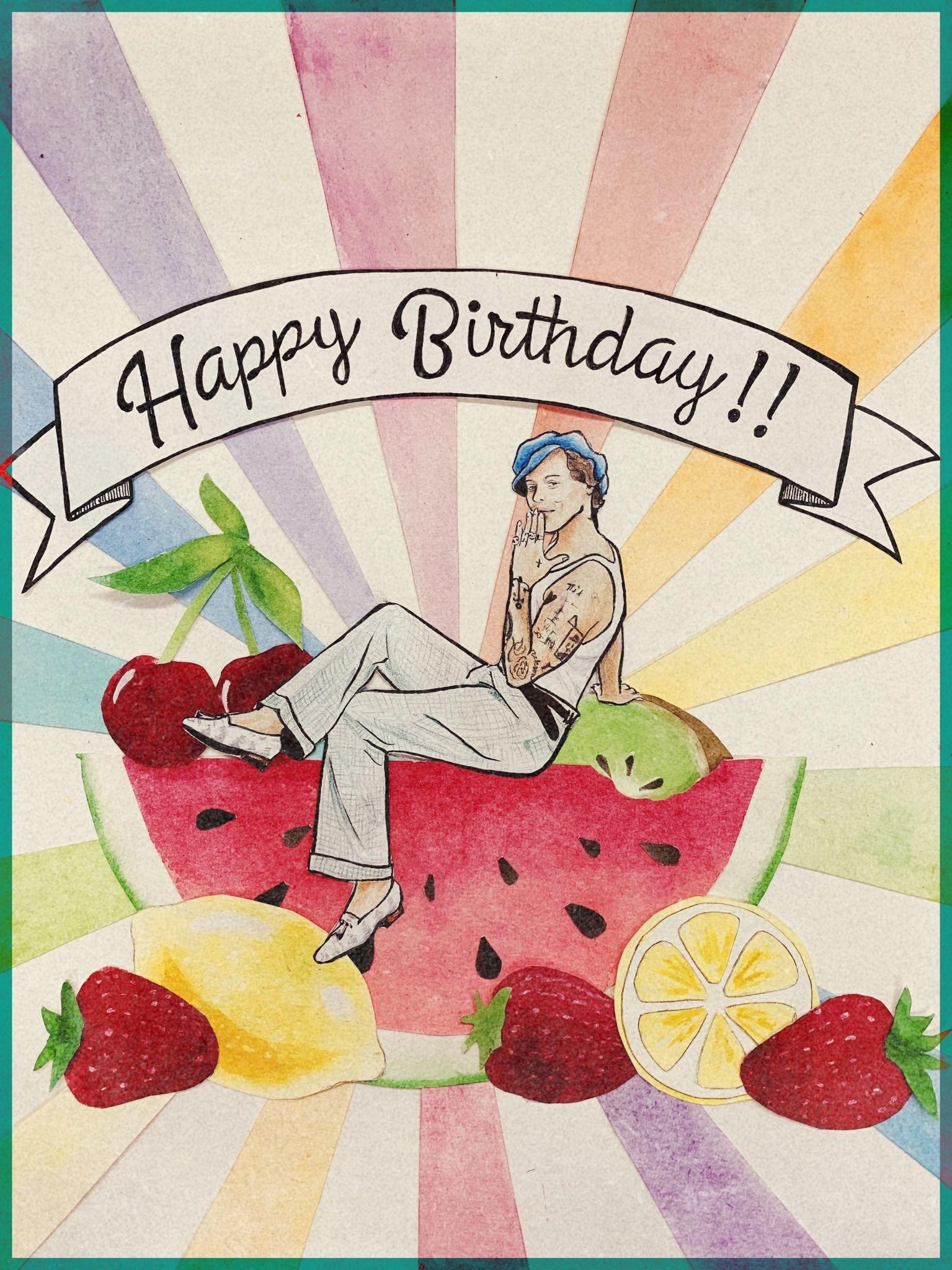Harry Is Beautiful Happy Birthday To Harry May There Be Many Many Harry Styles Drawing Harry Styles Birthday Harry Styles Poster