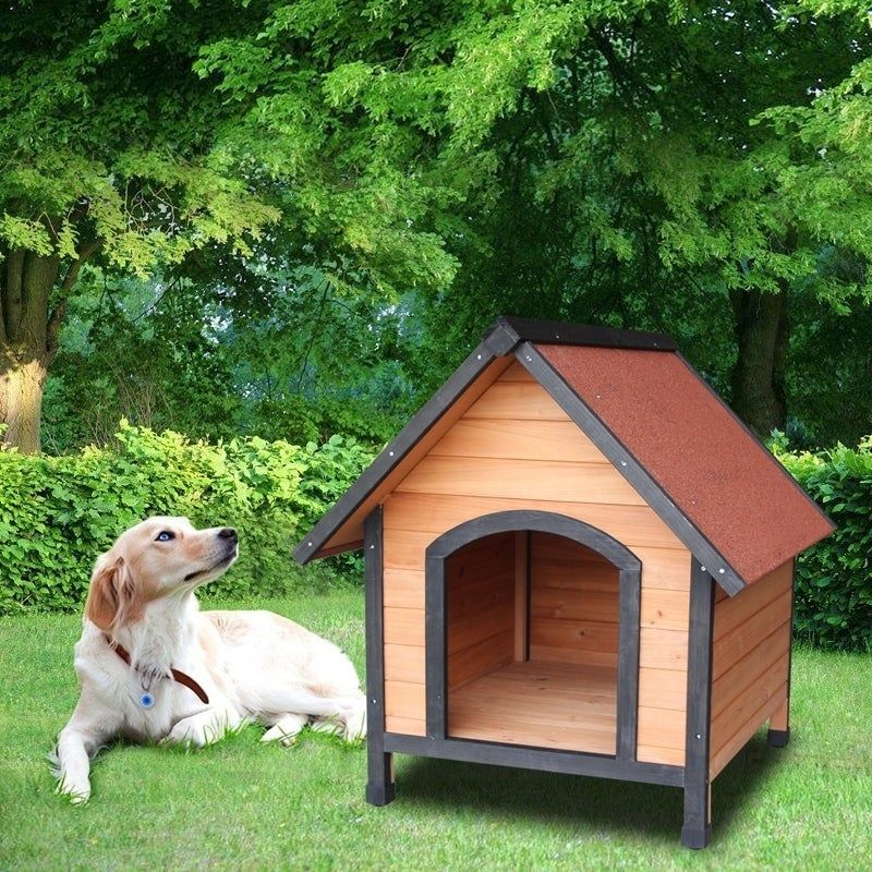 Dog House Outdoor Weather Waterproof Pet House Wood Pet Kennel