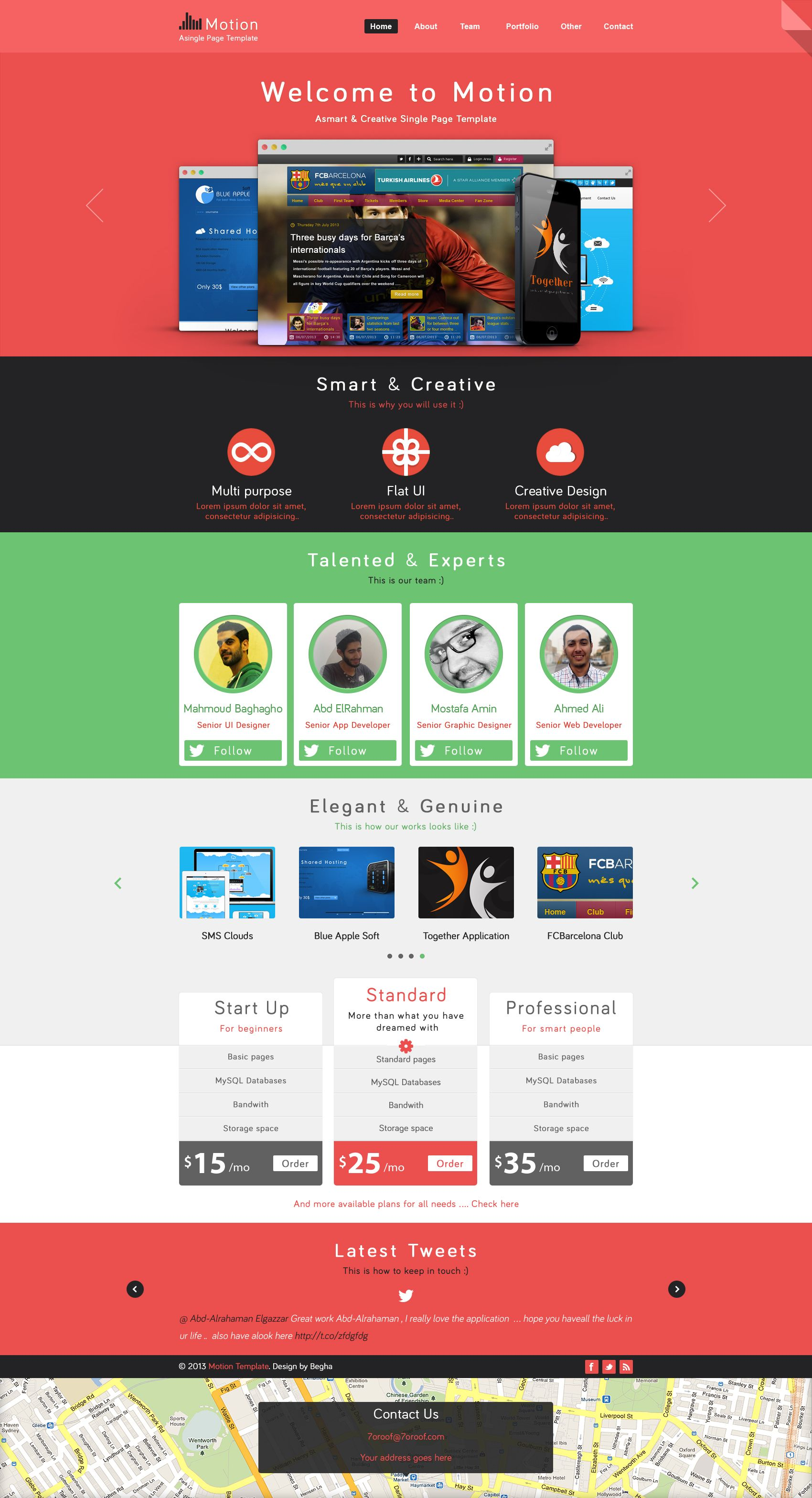 Motion Single Page Psd Web Template For Free Business Website Templates Free Web Page Psd Template Free