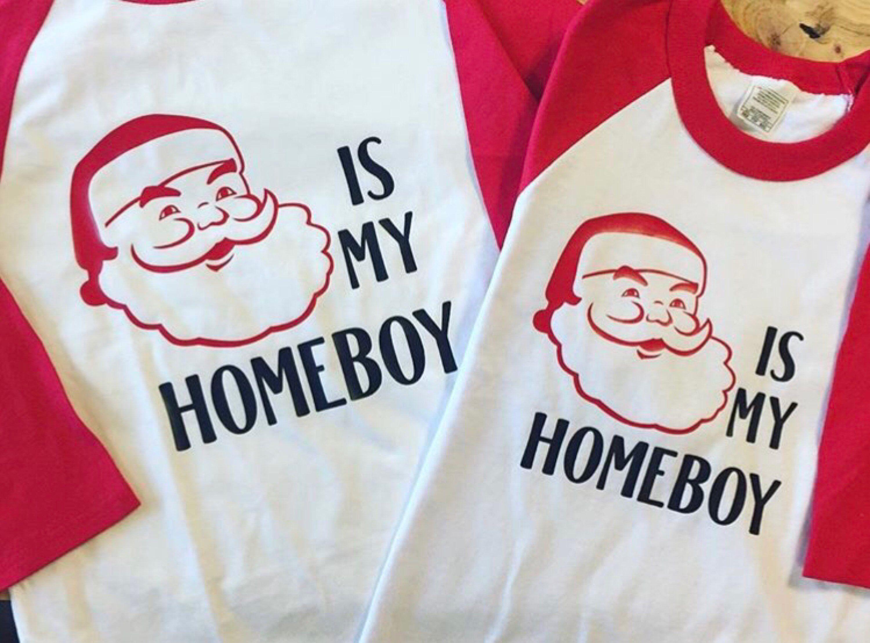 3c120c8e Excited to share this item from my #etsy shop: Santa is my homeboy, santa  shirt, homeboy shirt, christmas shirt, raglan kids, christmas, funny  christmas