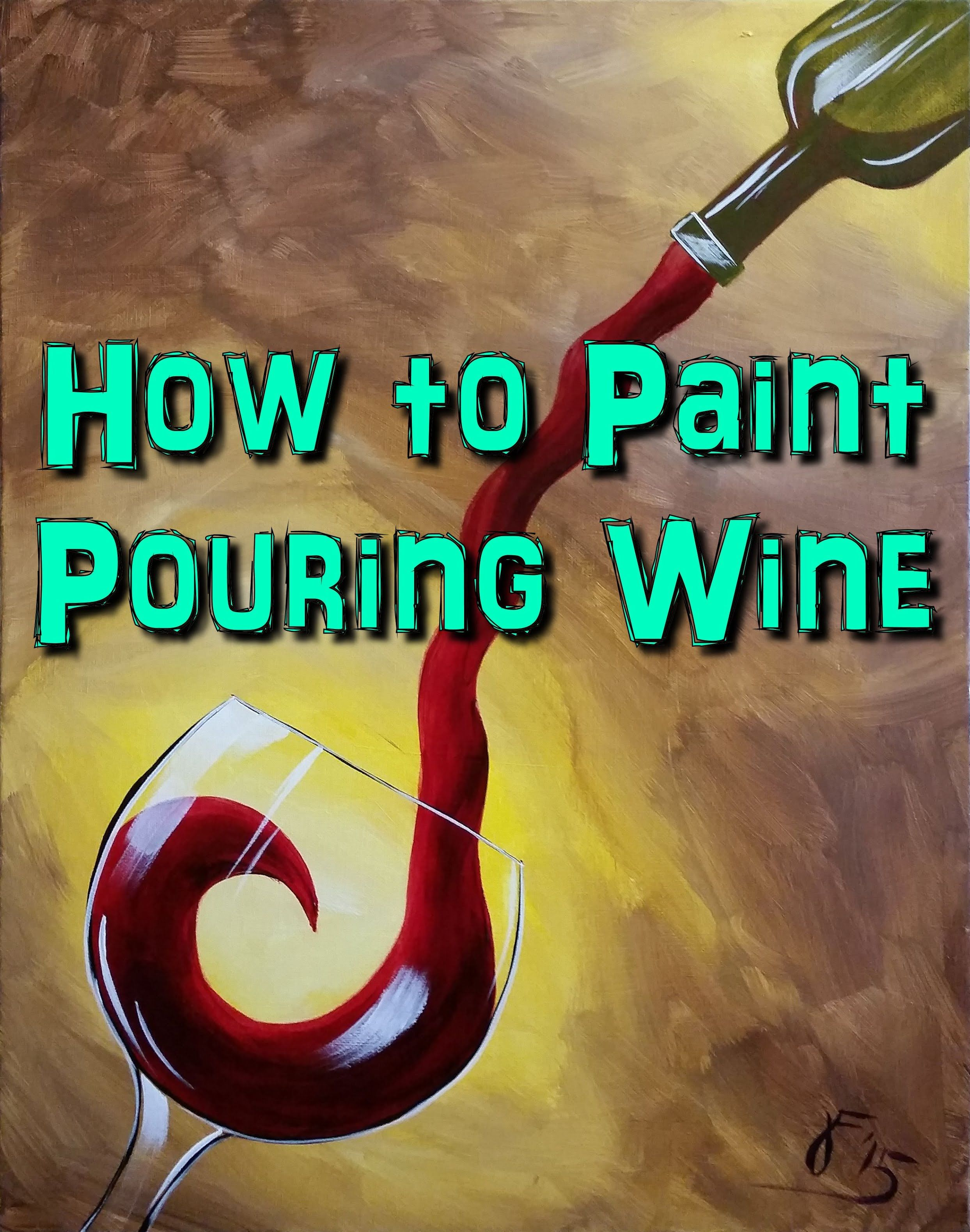 In this video, I'll be showing you how to paint a glass of ...