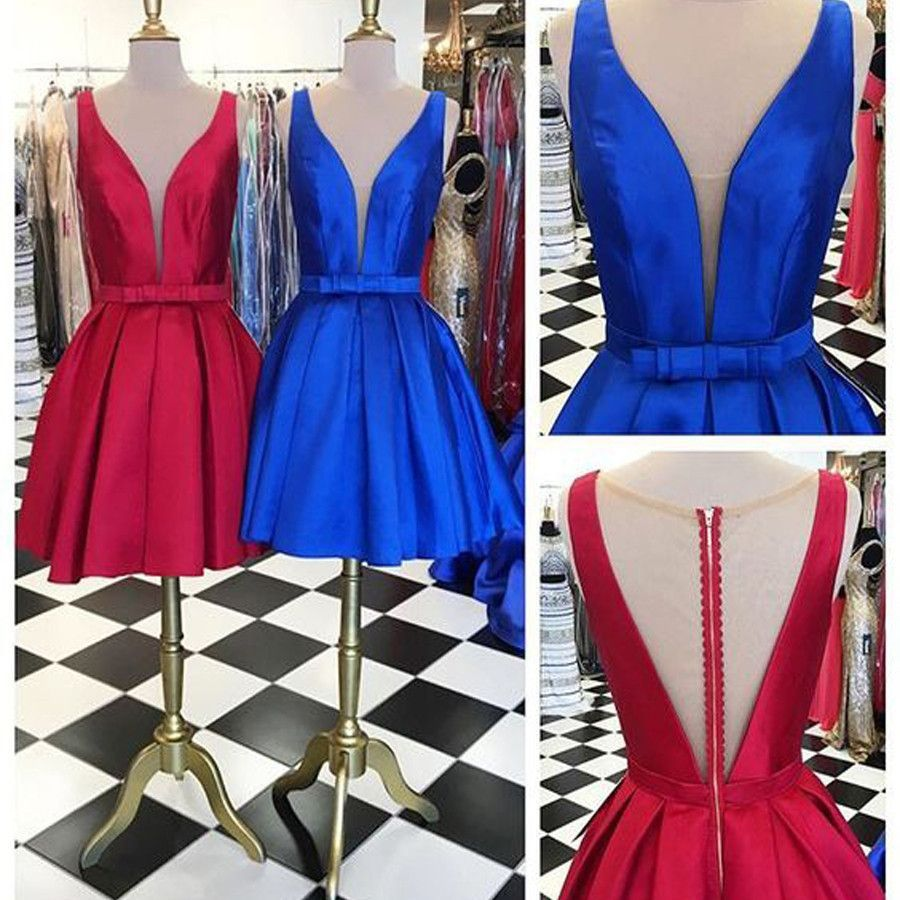 Newest simple unique style lovely cocktail dress homecoming prom
