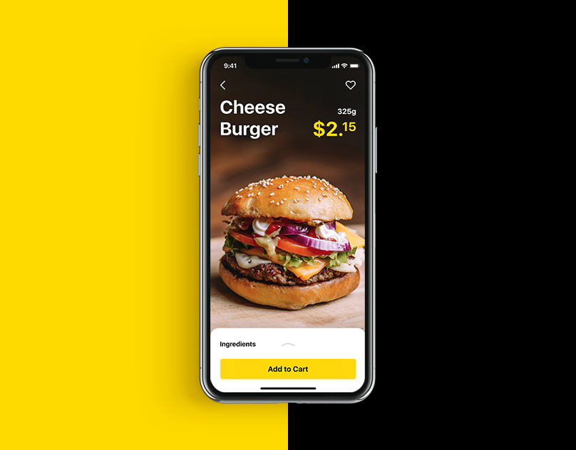 Mobile User Interface Design: Tasty Burger App #design #ui #uidesign