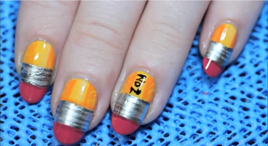 Today\'s+Daily+Nail+Art+is+this+pencil+design+by+thedailynail.+ | My ...