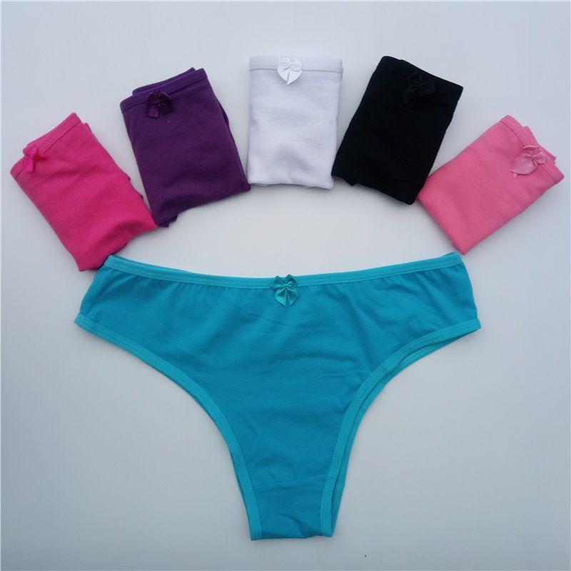 8a005b28111 5pcs lot New Women s cotton panties Girl Briefs Ms. cotton underwear bikini  underwear sexy