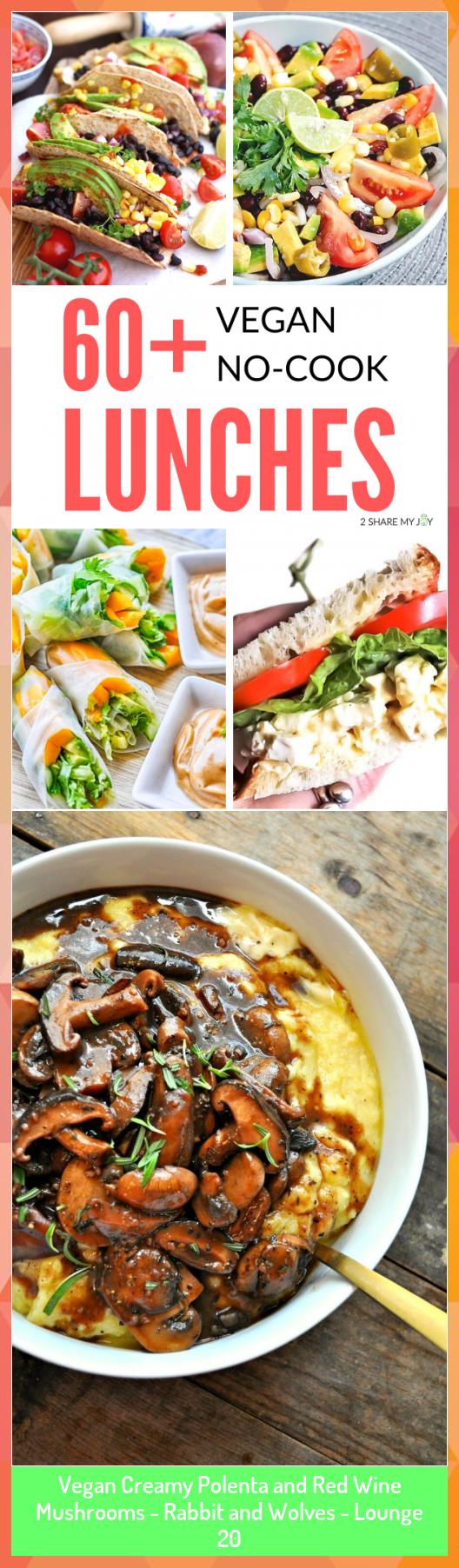 Vegan Creamy Polenta and Red Wine Mushrooms - Rabbit and Wolves - Lounge 20 #Creamy #Lounge #Mushrooms #Polenta #Rabbit #Red #Vegan #Wine #Wolves