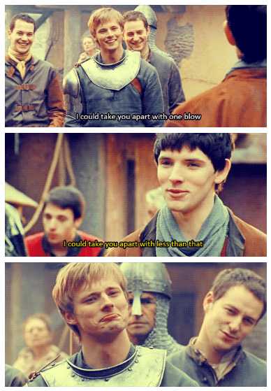 Remember when... Arthur was a cocky d*ckhead of a prince and Merlin was just a useless servant boy with yellow eyes.