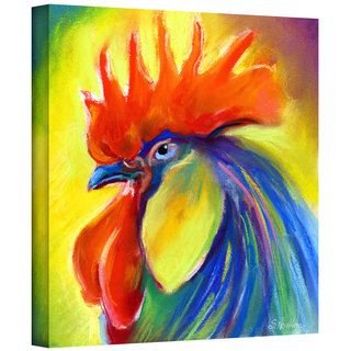 Svetlana Novikova Pastel Rooster Gallery Wrapped Canvas