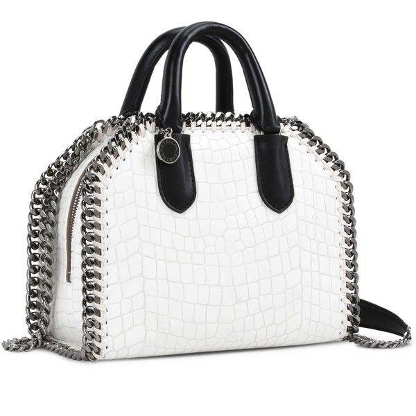 16cc83aba8d0 Stella Mccartney White Falabella Box Alter Croc Mini Bag ( 1