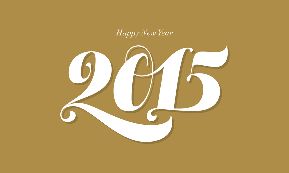 Happy 2015 everyone! Lettering by Thierry Fétiveau