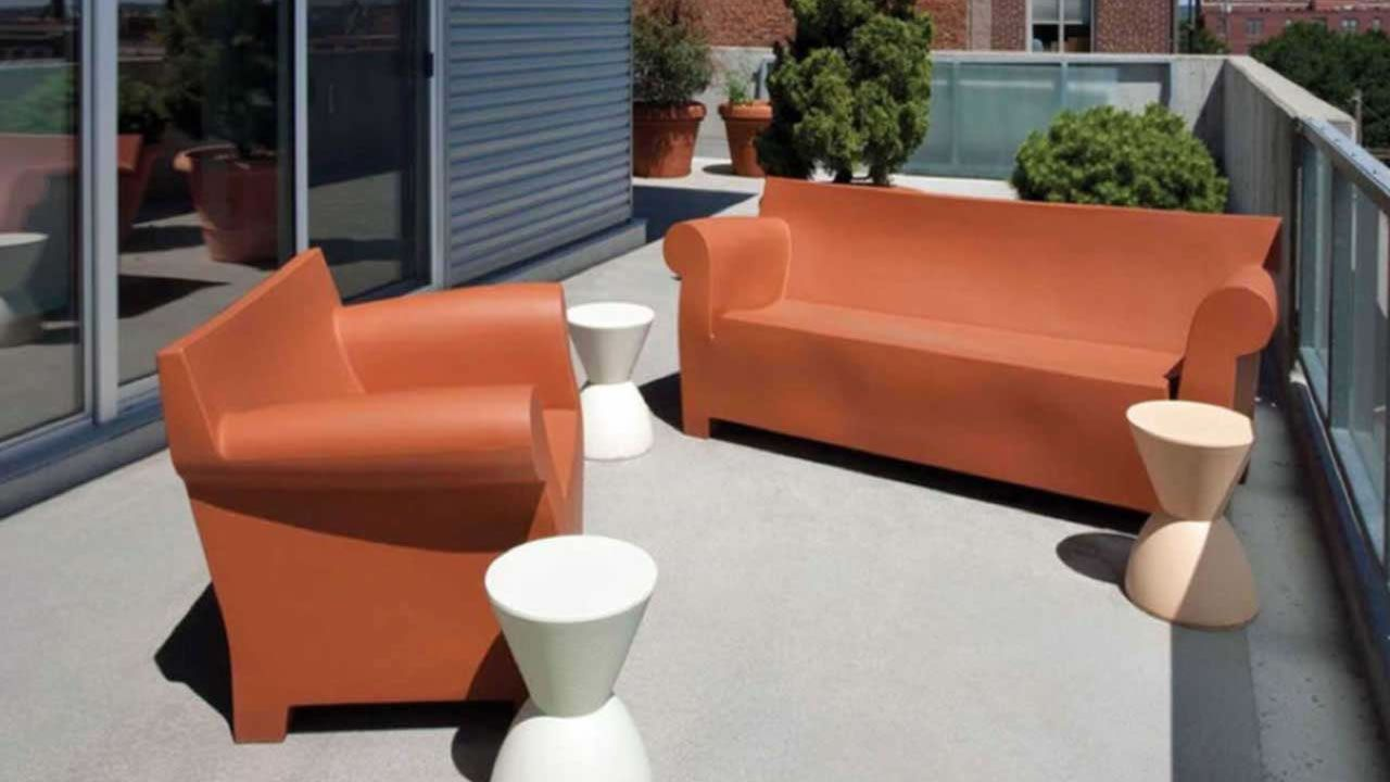 Kartell Poltrona Bubble Club.Bubble Club Kartell Outdoor Balcony Design Modern