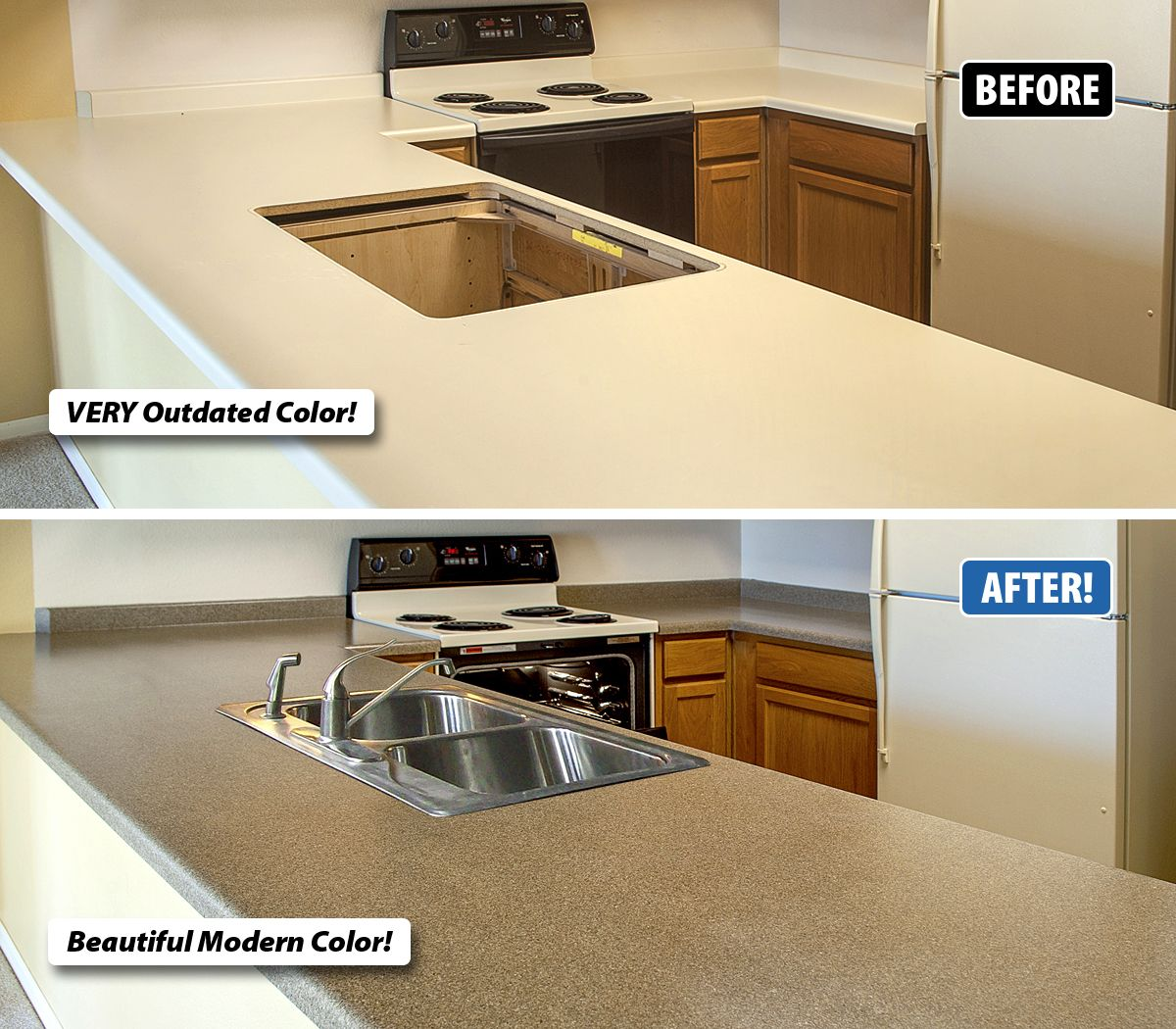 Refinishing Transforms Outdated Countertops To Likenew Condition Glamorous How Much Does It Cost To Replace Kitchen Cabinets 2018