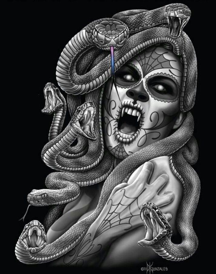 Medusa Artwork Tattoo: Coffee, Medusa And