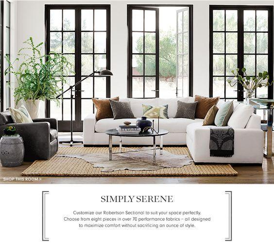 simply serene furniture collection williams sonoma home williams sonoma