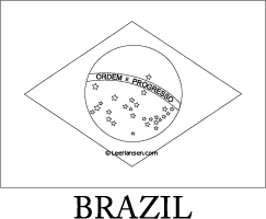 Brazil flag line art coloring page | Printable Worksheets ...