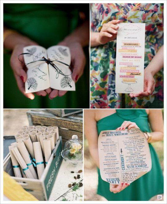 Super idees livret messe programme mariage parchemin cocotte en papier  TY64