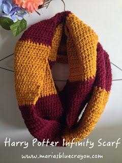 Harry Potter Infinity Scarf Crochet Pattern Crochet Pinterest