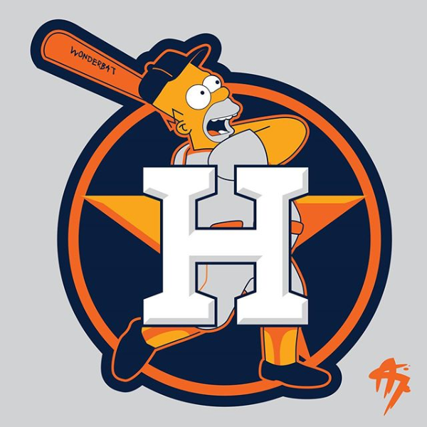 Homer Simpson (Houston Astros) in 2020 Houston astros