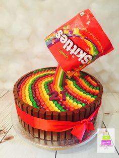 Skittles gravity cake #gravitycake