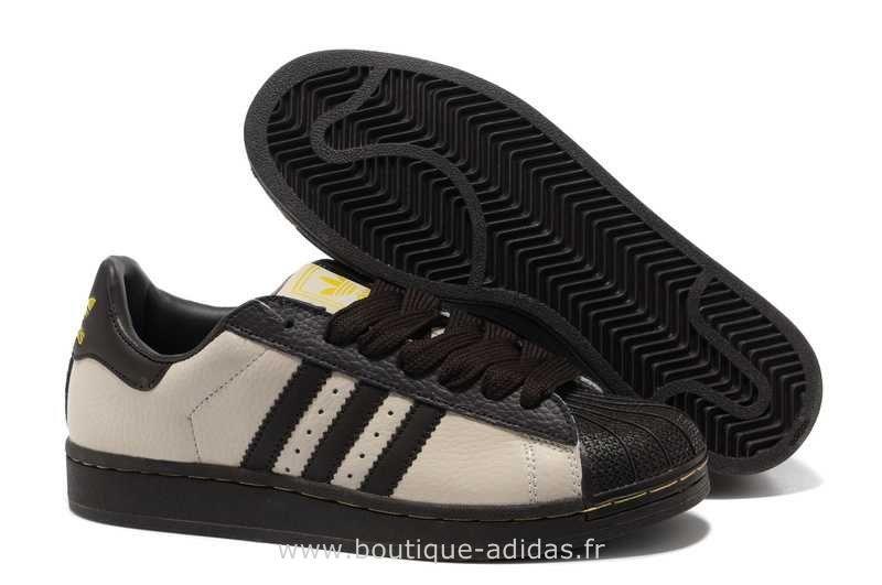 nouveau style 61eeb 282e8 Hommes Adidas Chaussures Superstar II CrèMe De Café Or ...