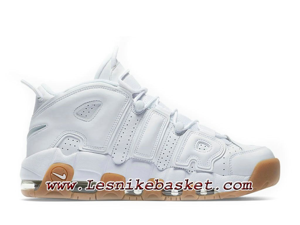 buy online 627b0 bf7cf Nike Air More Uptempo Chaussures Officiel Nike Pas Cher Pour Homme White Gum  414962 103