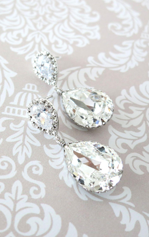 901cebab4848 Sandra - Swarovski Crystal Teardrop Earrings