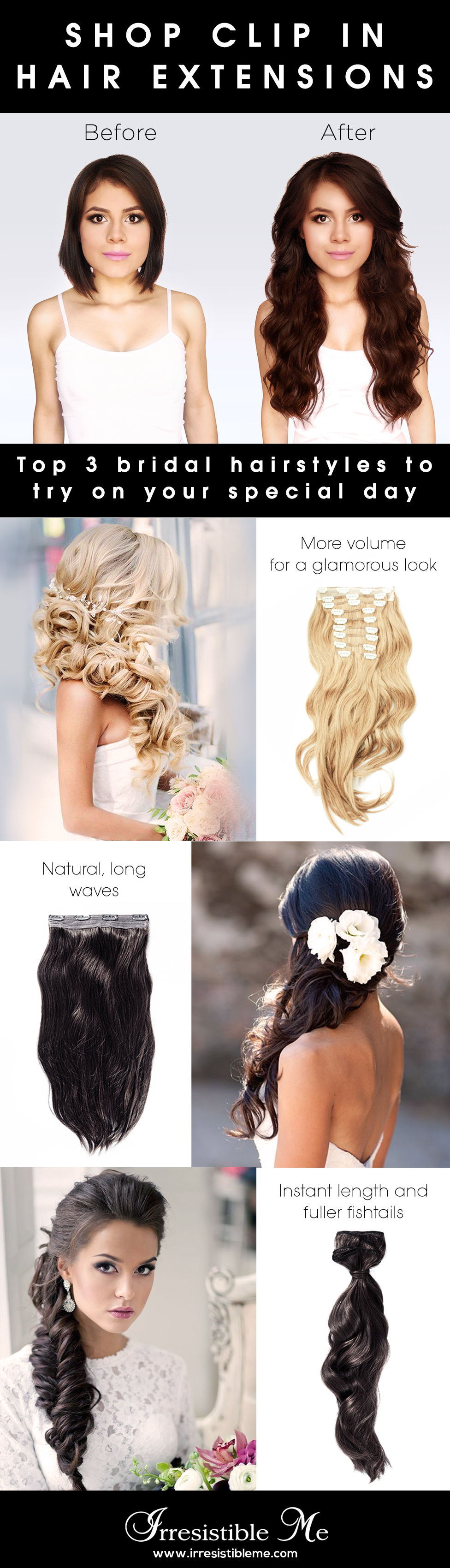 Make A Dramatic Hairstyle Change With Irresistible Me 100 Human Remy Clip In Hair Extensions You Can Add Length Hair Styles Long Hair Styles Hair Extensions
