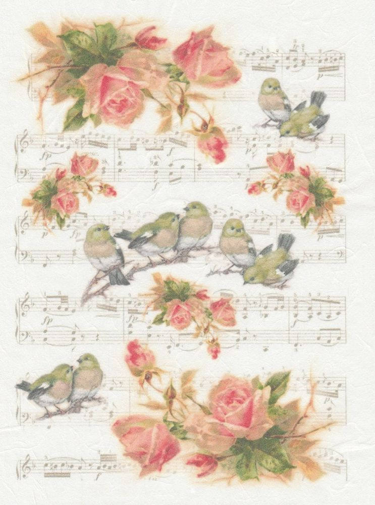 Sheet Craft Vintage Singing Birds 1 Scrapbooking Rice Paper for Decoupage