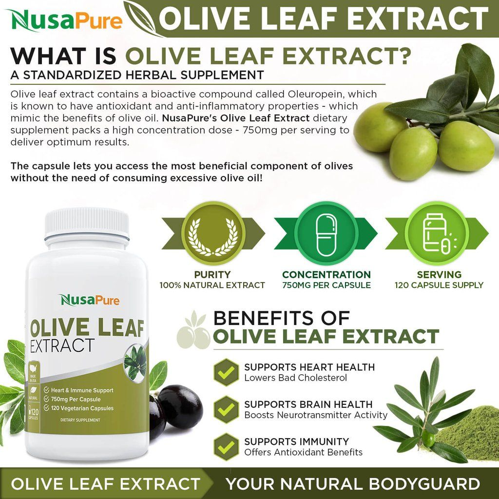 best olive leaf extract 20% 200 veggie caps (non-gmo