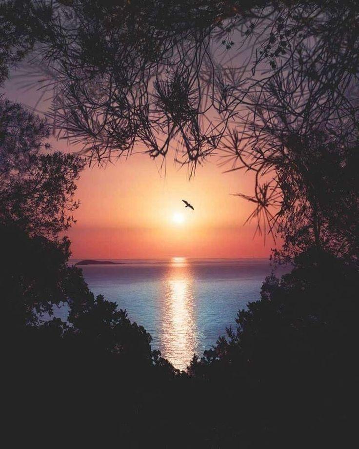 Sonnenuntergang mit Herz - #Herz #mit #Sonnenuntergang #decembrefondecran