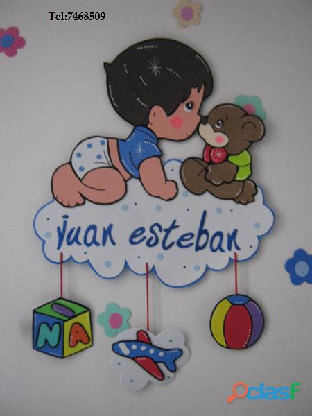 Todo decoraci n globos foami clasf bienvenidos de - Dibujos para decorar habitacion de bebe ...